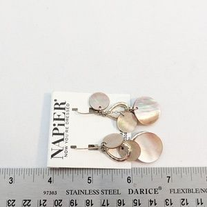 Napier Jewelry - Napier Gold w/Mother of Pearl Dangle Earrings